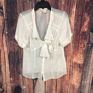 SUNDANCE CREAM SILK BLOUSE 12